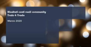 Risultati reali raggiunti dalla community marzo 2020