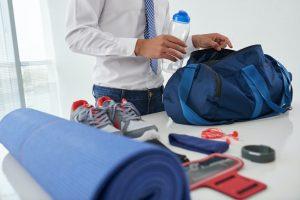 Preparing gym bag